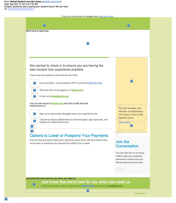 Nelnet Email Review Does It Fit The Bill Email Design Sample