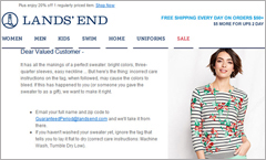 Lands End email