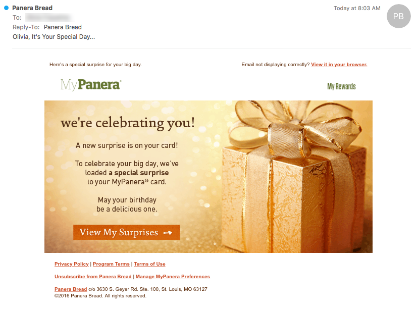 Get the Click - Panera Bread Email Review