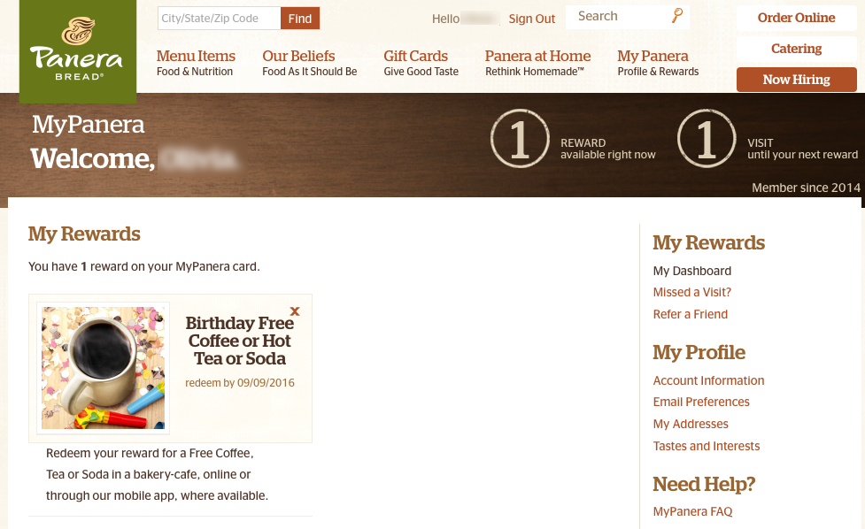 Panera Bread Email Review Is This Birthday Offer Half Baked